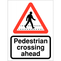 Enhance pedestrian safety with this information sign for motorists