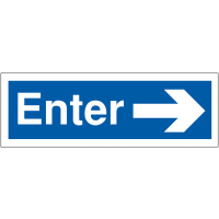 Hard-Wearing Car Park Enter Sign With Right Arrow