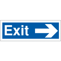Weather Resistant Car Park Exit Signs With Right-Pointing Arrow