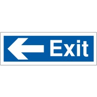 Weather-Resistant Car Park Exit Signs With Left-Pointing Arrow