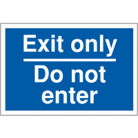 Weather-resistant exit only car park sign