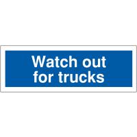Durable Truck Warning Car Park Signs