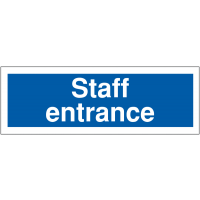 Plastic Car Park Navigation Signs – Staff Entrance
