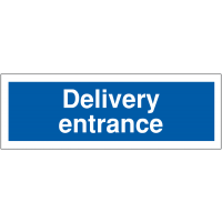 Weather-Resistant Delivery Entrance Car Park Sign
