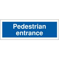 Pedestrian entrance car park way-finding signs