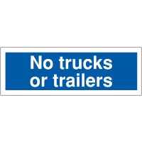 Weather-Resistant No Trucks or Trailers Car Park Sign