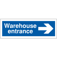 Car Park Way-Finding Signs – Warehouse Entrance with Arrow