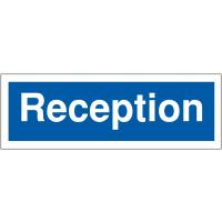 Car park reception signs for easy navigation