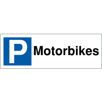 Weather-resistant Parking Bay Signs for Motorbikes