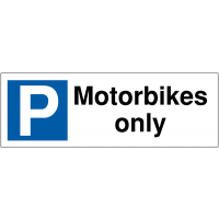 Weather-Resistant 'Motorbikes Only' Parking Bay Sign