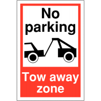 Clear Car Park Towing Signs - No Parking Tow Away Zone