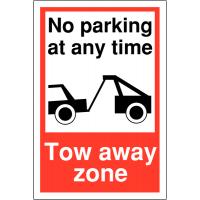 Plastic Car Park Towing Signs