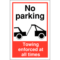 Weather-Resistant No Parking Towing Warning Sign