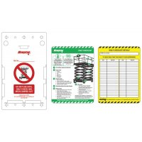 Easy to use Scafftag MEWP inspection tags kit