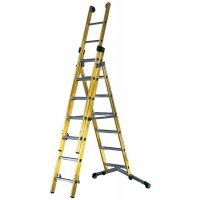 3-Way Fibreglass Combination Ladder