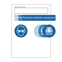 Fully customisable PPE sign that covers all workplace risks