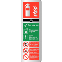 CO2 Fire Extinguisher Safety Guide Sign