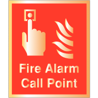 Deluxe Fire Alarm Call Point Safety Sign