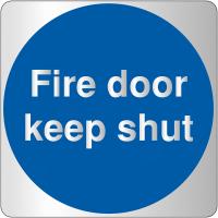 Stylish Metal-Look Acrylic Fire Door Sign