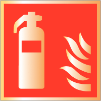 Metal-Look Acrylic Fire Extinguisher Sign