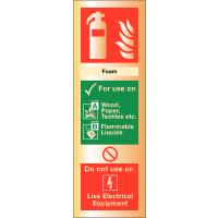 Deluxe Metal Fire Extinguisher Signs - Foam