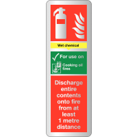Wet Chemical Fire Extinguisher Deluxe Metal Effect Signs