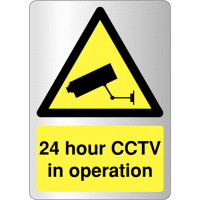 Deluxe 24 Hour CCTV Warning Signs