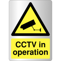 Metal-Look Acrylic 'CCTV In Operation' Sign