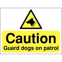 'Guard Dogs On Patrol' Site Safety Sign