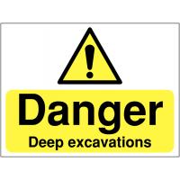 Deep Excavations Warning Signs
