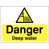 Highly Visible, Legally Compliant 'Danger: Deep Water' Signs