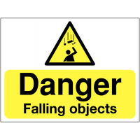 Warning signs for falling objects