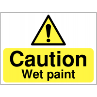 Highly-Visible Wet Paint Site Warning Sign