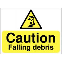 Durable 'Caution Falling Debris' Construction Site Sign