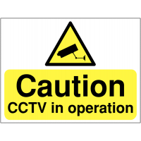 Strong, lightweight construction sign – 'Caution CCTV in operation'