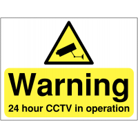 24 hour CCTV in operation' outdoor site sign