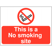 'This is a no smoking site' signage for workplaces