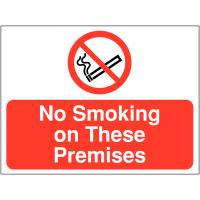 Easy peel 'No Smoking on These Premises' sign
