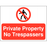 Durable, Versatile 'Private Property, No Trespassers' Site Sign