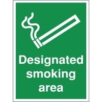 'Designated Smoking Area' Construction Site Sign