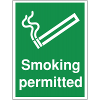 Smoking permitted safety signs