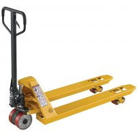 Highly-Visible Yellow Pallet Truck for Heavy-Duty Use