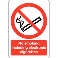 No Smoking/E-Cigarettes Safety Signs