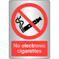 'No electronic cigarettes' signs in high quality materials