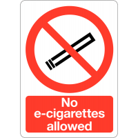 High quality no e-cigarettes allowed sign