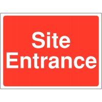Site entrance' sign in durable outdoor materials