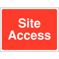 Construction site access signs