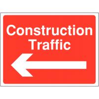 Construction Traffic Warning Signs (Arrow Left)