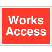 Versatile and temporary works access construction signs