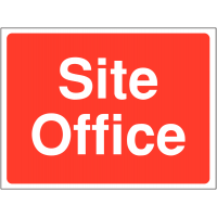 Durable 'site office' construction sign for outdoor use